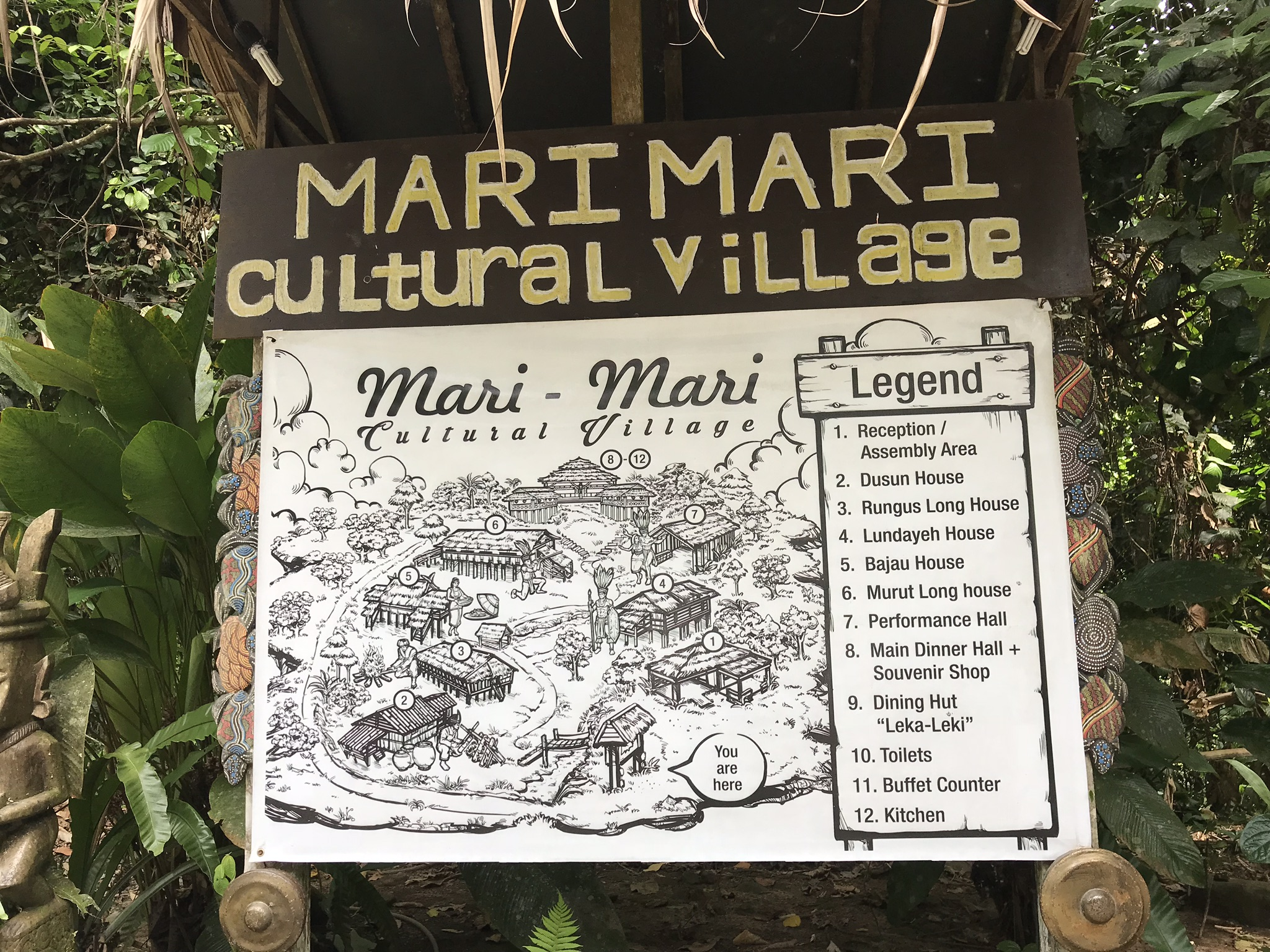 Map Mari-Mari Cultural Village