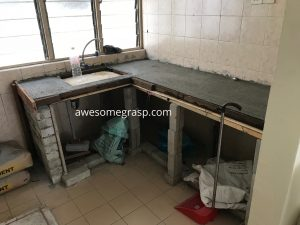 gugusan mawar kitchen cement