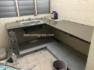 gugusan mawar kitchen table top tiles