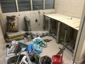 gugusan mawar kitchen work in progress