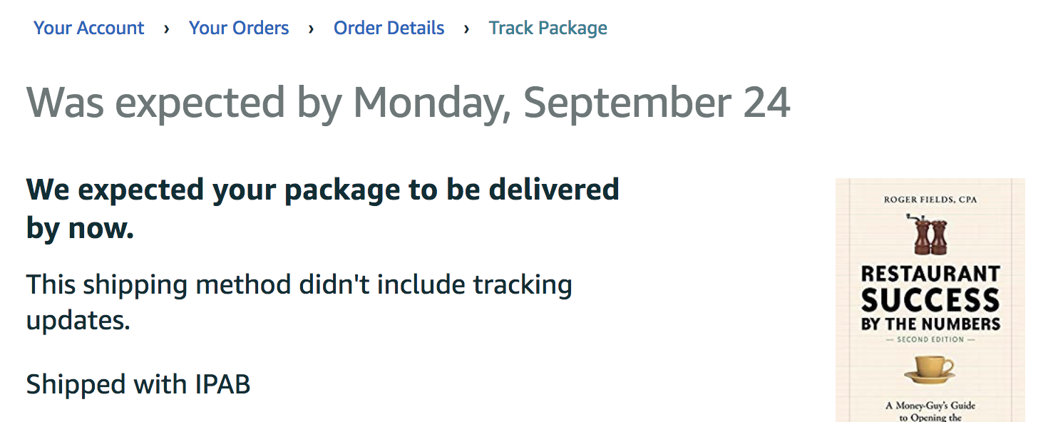 My Amazon Books Delivery is Delayed