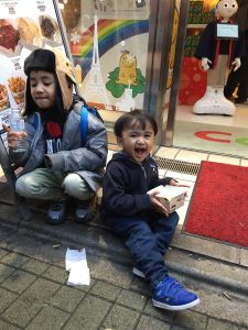 Ate some hot fries at takeshita street