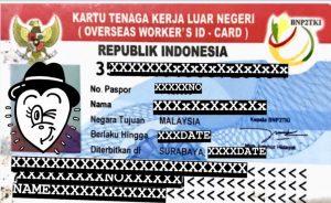 indonesia kartu tenaga kerja luar negeri
