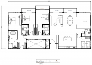 vista residence layout dual entry