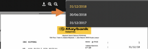 maybank housing loan statement