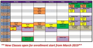 Motion Gym - Schedules