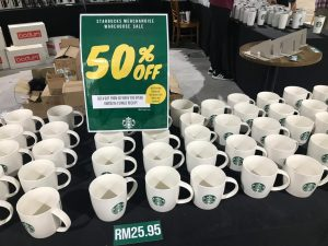 starbucks merchandise warehouse sale starling mall 28 - 30 june 2019