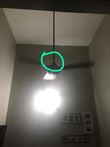 ceiling fan cover that caused the clickng sound
