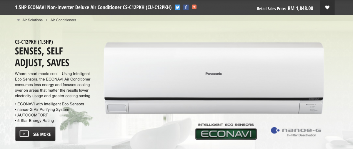 Panasonic EcoNavi Aircond Not Working