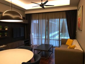 vista residence genting living room