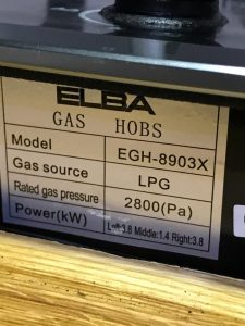 elba kitchen gas hob model EGH-8903X