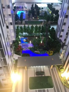 embayu damansara west scale model - pond garden