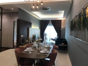 embayu damansara west show unit - dining area