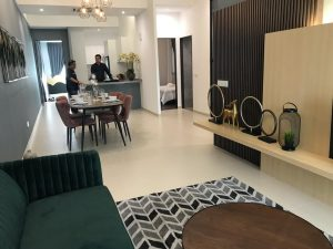embayu damansara west show unit - living room 2