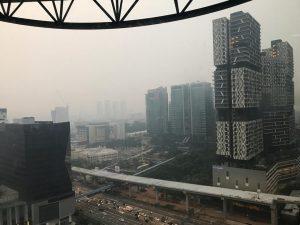 kuala lumpur haze view from menara tm 2019