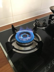 working new gas burner