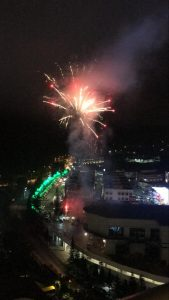 new year 2020 fireworks from windmill upon hills genting
