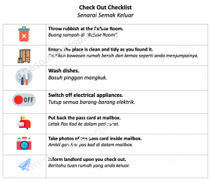 airbnb check out checklist