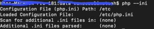 macos php ini command