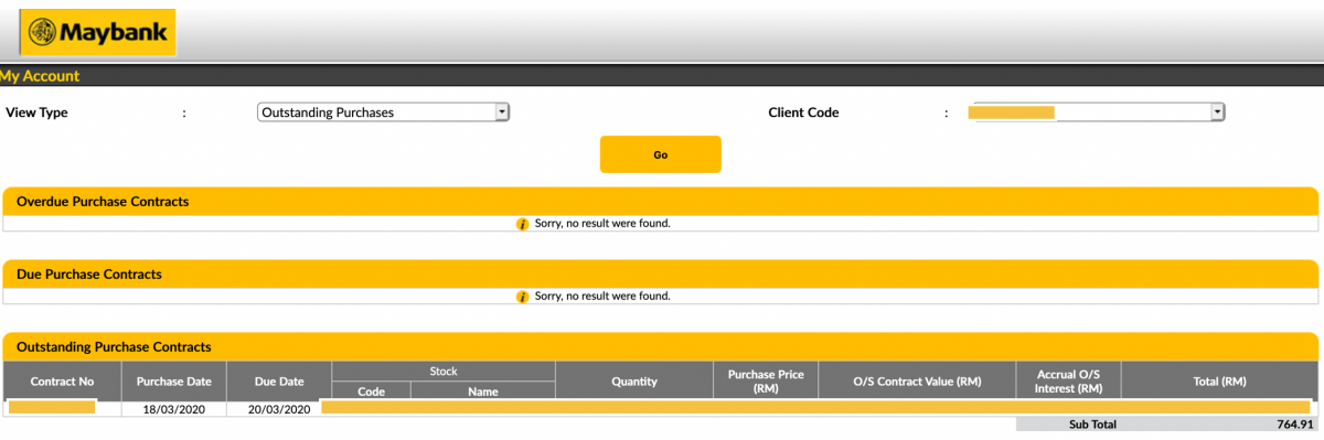 How To Pay Outstanding Purchases At Maybank Stocks Online Trading Platform