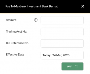 maybank2u payment to maybank investment bank