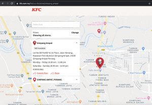 kfc outlets location