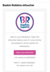 baskin robbins wogi send e voucher