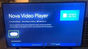 sharp aquos android tv install nova video player