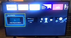 sharp aquos android tv install video player