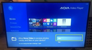 sharp aquos android tv nova video player allows access