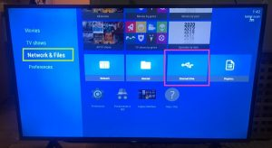 sharp aquos android tv nova video player choose network files and external drive