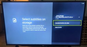 sharp aquos android tv nova video player subtitle associate the file