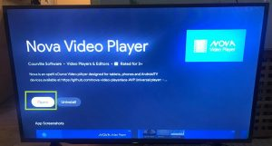 sharp aquos android tv open nova video player