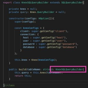typescript builder pattern and inheritance - child class