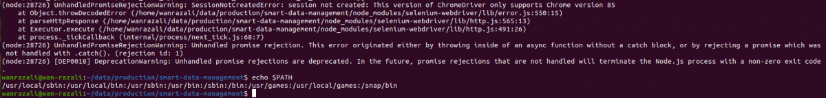 Selenium – This version of ChromeDriver only supports Chrome version 85 error on Ubuntu