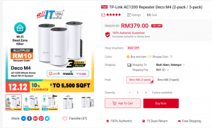 tp link deco m4 mesh wifi booster
