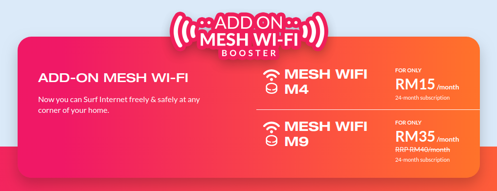Unifi Mesh Wifi Booster Package Comparison