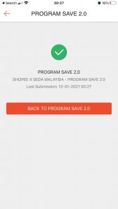 seda save 2.0 shopee program save 2.0 submission