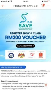 seda save 2.0 voucher rm200 for fridge and aircond 5 stars energy