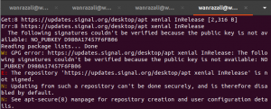 signal desktop installation ubuntu - error during installation