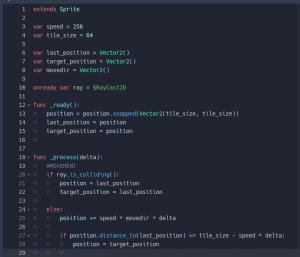 godot grid movemen t- update script with raycast2d p1