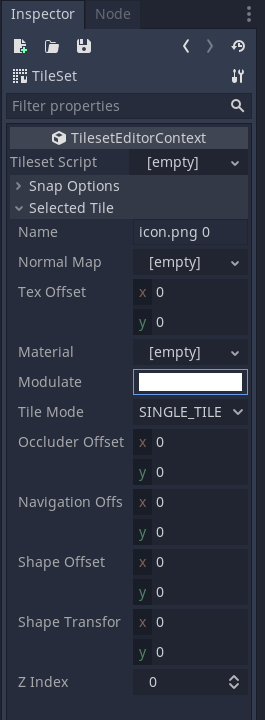 godot grid movement - change color by clicking on modulate