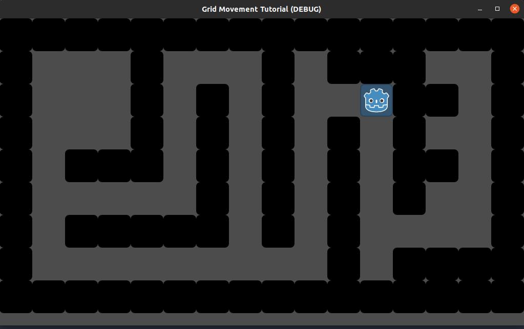 godot grid movement - maze
