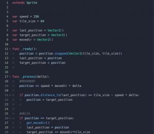 godot grid movement - script part 1